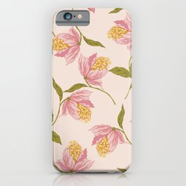 Exotic tropical flower  iPhone Case