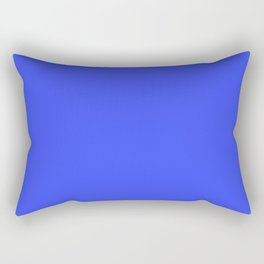 Peacock Feathers Solid Light Bright Blue 1 Rectangular Pillow
