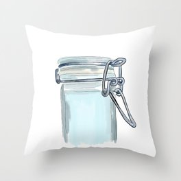 Canister Clasp Throw Pillow