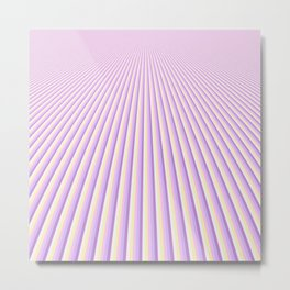 Abstract Geometric stripes with Unicorn Colors design Metal Print