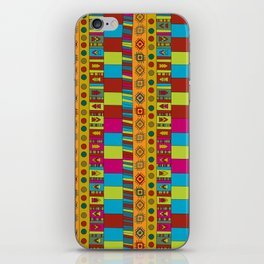 Abstract hand drawn Ethno design  in vivid colours. iPhone Skin