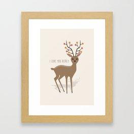 I love you deerly Framed Art Print