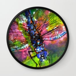 Title: painting - Dragonfly Wall Clock