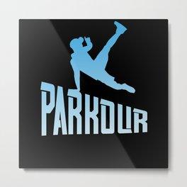 Parkour Freerunner Free Run Athlete Metal Print