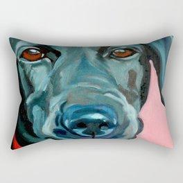 Black Labrador Polly Rectangular Pillow