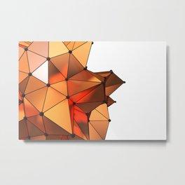 Abstract geometric reds Metal Print