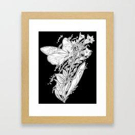 Tobacco & Butterfly Framed Art Print