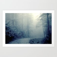Wander in a Woodland Fog Art Print