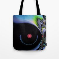 pushing daisies Tote Bags featuring Pushing Forward by Jim Pavelle