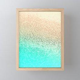 GOLD AQUA Framed Mini Art Print