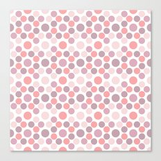 Blushing Dots Canvas Print