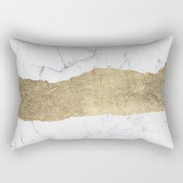 Elegant faux gold foil gray white modern marble Rectangular Pillow