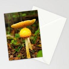 Yellow mushrooms Stationery Cards