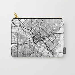 Dallas Map White Carry-All Pouch