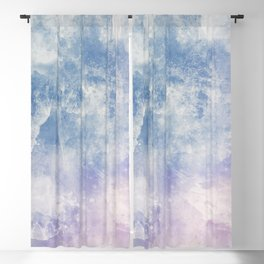 Clouds And Tides Abstract Painting Blackout Curtain