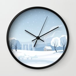 Winter Landscape Pattern Wall Clock