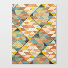 Triangles and Circles Pattern no.23 Canvas Print