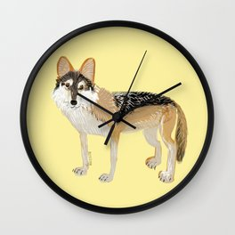 Mexican Wolf (Canis lupus baileyi) (TOPOS) Wall Clock