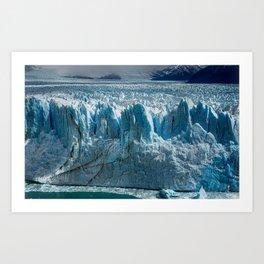 El Calafate Los Glaciares National Park glacier ice mountain landscape Santa Cruz Patagonia Argentina Art Print
