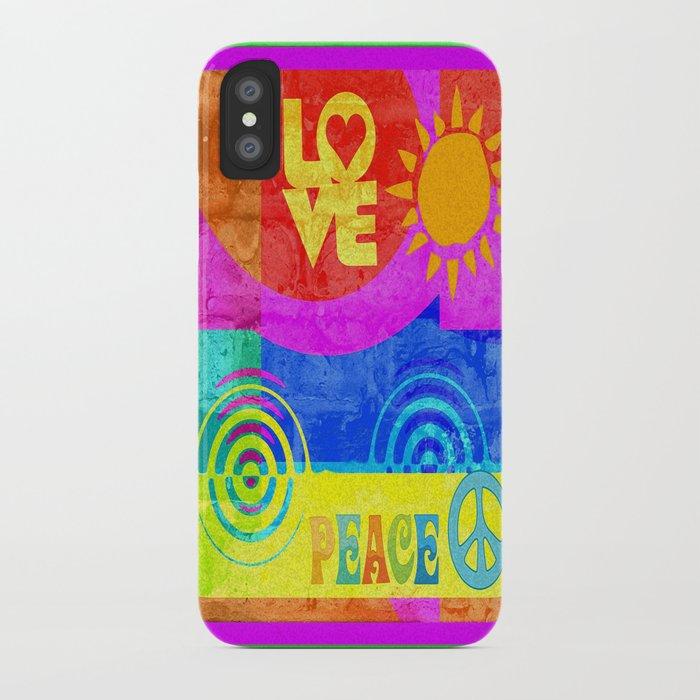 Love Peace iPhone Case