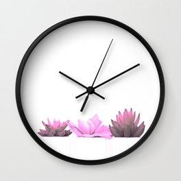 Pink Cactus Wall Clock