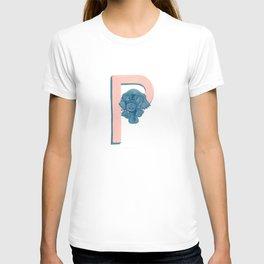 P is for Platypus Letter Alphabet Decor Design Art Pattern T-shirt