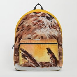 owl-middle owl-hibou moyen duc Backpack