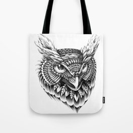 Ornate Owl Head Tote Bag
