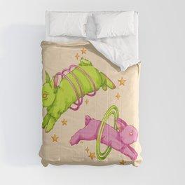 Cosmic rabbits Comforters