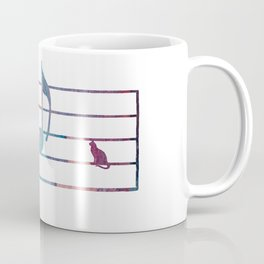 Musical Note With Cats Coffee Mug