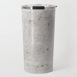 Smooth Concrete Small Rock Holes Light Brush Pattern Gray Textured Pattern Travel Mug