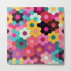 Honeycomb Blooms Metal Print