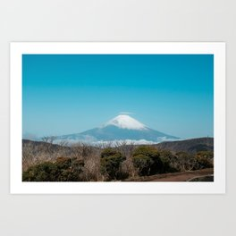 Mount Fuji on a Clear Day - View from Owakudani in Hakone, Japan  Art Print