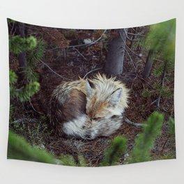 Sleeping Fox Wall Tapestry