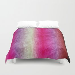 Bright Pink, Violet & Cream Textured Stripes Duvet Cover