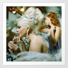 Las Vegas Showgirls 1960 Art Print