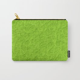 Lime green 3D carpet texture Carry-All Pouch