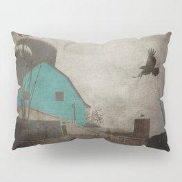 Rustic Teal Barn Country Art A158 Pillow Sham