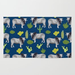 Brahman Cattle cactus southwest farm farming homestead animals Rug