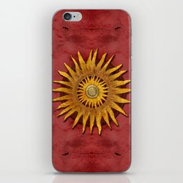 """""""Aztec Sun and pickled coral"""" iPhone Skin"""