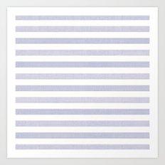 Blue n White Stripe Art Print