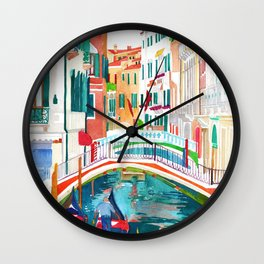 Canal in Venice Wall Clock