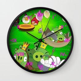 Angry Birds Cartoon Mix Wall Clock
