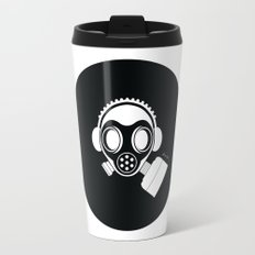 Post World Zuno : Gas Mask 04 Travel Mug