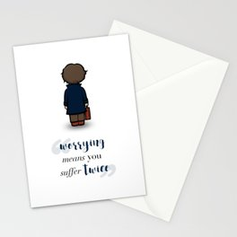 Worrying means you suffer twice - Newt Scamander Stationery Cards