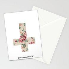 Flower Cross Stationery Cards