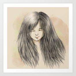 hair dreams Art Print