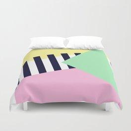 Pastels & Crossings Duvet Cover