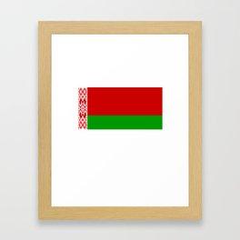 Belarus Belarusian Flag design Framed Art Print