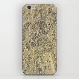 Vintage Pictorial Map of El Paso Texas (1886) iPhone Skin